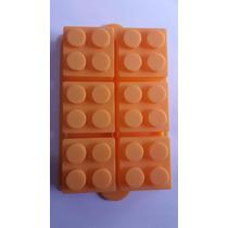 Molde De Silicon En Forma De Cubo De Lego Gigante