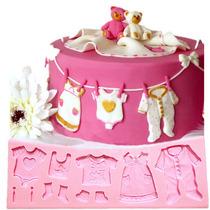 Molde De Silicón Para Figuras Fondant De Baby Shower