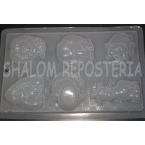 *molde Mediano Para Gelatinas Yeso Jabon 6 Animales Varios*