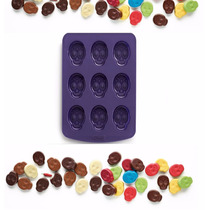 Molde De Silicon Para Chocolates De Calavera Dias De Muertos