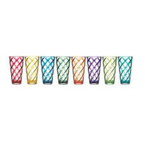 Juego De Vasos De Acrilico 8 Piezas Colores Surtidos A Meses