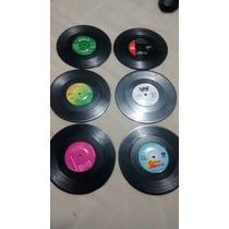 Portavasos Discos Acetato Vinyl 6 Pzas Bar Coasters Plastico