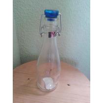 Frascos Y Recipientes Hermeticos De Cristal Botella 0.355 Ml