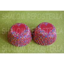 *capacillos Rojos Florecitas Corazon Muffin Cupcake Fondant*