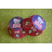 *capacillos Hello Kitty Azul Y Rojo Muffin Cupcake Fondant*