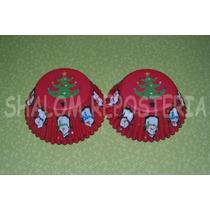 *capacillos Rojos Arbol Pinguinos Navidad Fondant Cupcake*