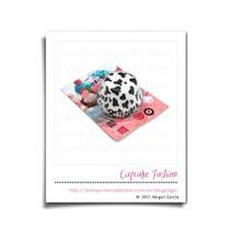 100 Capacillos Base Estándar Vaca Dalmata Cupcake #1541