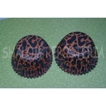 *capacillos Animal Print Leopardo Naranja Cupcake Fondant*