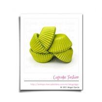 200 Capacillos Mini Num 69 Verde Limón Trufas Cakepops #1710