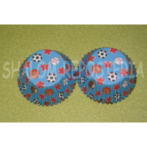 *capacillos Azules Deportes Soccer Basket Cupcake Fondant*