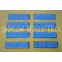 *kit 8 Reglas Plaquitas Mod 2 Textura Fondant Pasta Flexible