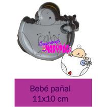 Cortadores De Galleta Baby Shower Bebé Con Pañal