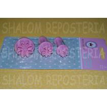 *kit 3 Cortadores Eyectores Margaritas Chicas Icing Fondant*