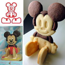 Cortador Galletas Mickey 3d Pan Pasta Fondant Chocolate