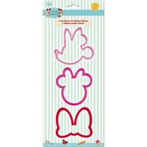 Cortador De Galletas Minnie Mouse 3pzs