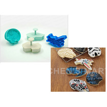 Cortadores De Galletas Naves Star Wars 4pzs