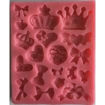 Molde De Coronitas Y Moños Princesa Para Fondant O Chocolate