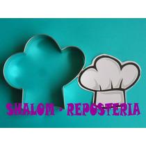 *cortador De Galletas Gorro De Chef ,royal Icing, Fondant*