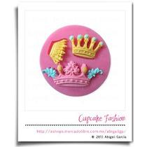 Molde Silicón Coronas Fondant Pasta Flexible Cupcake #904