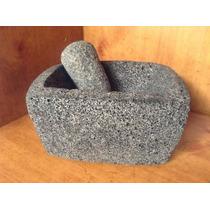 Molcajete Moderno Piedra Volcanica Artesanal Nuevo Modelo