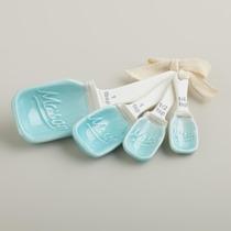 Mason Jar Cucharitas Medidoras De Ceramica En Forma De Mason