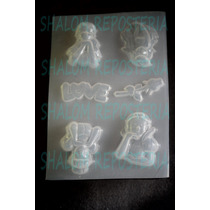 *mini Molde Princesas Disney Love Fondant Chocolate Jabon*