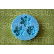 *mini Molde Silicon 3 Copos De Nieve Frozen Cupcake Fondant*