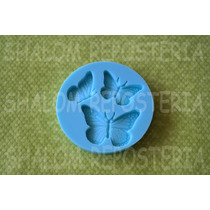 *mini Molde Silicon 3 Mariposas Cake Pop Cupcake Fondant*