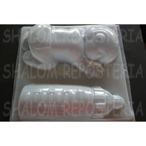 *molde Jumbo Para Gelatina Doble Bebe 3d Dormido Y Biberon*