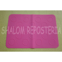 *tapete Mantel Silicon 18 Macarrones Macarron Royal Icing*