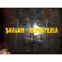 *molde Paletas De Chocolate De Libelulas Flores Jabon Gomita