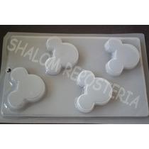 *molde Mediano Gelatinas Jabones 4 Siluetas Mickey Mouse Med