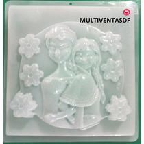 Molde Jumbo Para Gelatina ** Figura Ana Y Elsa - Frozen **