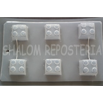 *molde Mediano Gelatinas Jabon 6 Piezas Bloques Lego Chicas*