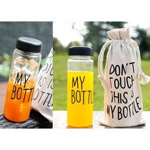Práctico Termo Ecológico De Plástico Con Bolsa De Tela