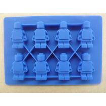 Molde De Silicon Para Hielos Forma De Hombrecillo Lego