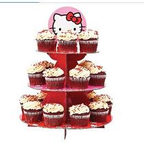 Base Para Cupcakes De Hello Kitty Mas 50 Capacillos Iguales