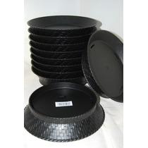 Canastas Para Para Alimentos Color Negro Caja Con 12 Piezas