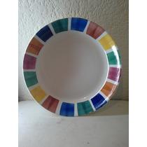 Plato De Porcelana Hecho En Italia Hermoso