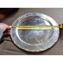 Plato De Bronce Plateado, 30cm De Diametro