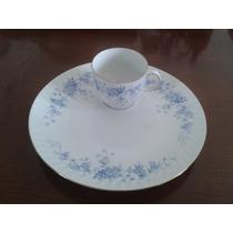 Juego De 12 Platos Tazas Porcelana Bareuther Bavaria Oro 24k