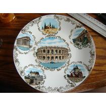 Plato Decorativo Porcelana Fina Oro Limoges Francia Nimes