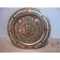 Plato De Cobre Calendario Azteca De 28 Cms