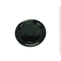 Plato Plano Trinche Peltre Negro Brillante 22 Cm