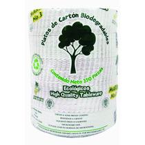 Platos De Carton Biodegradables 250 Piezas