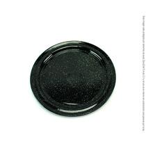 Plato Plano Trinche Peltre Negro Brillante 26 Cm