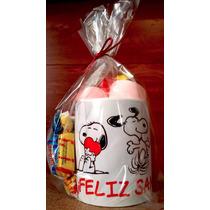 Taza De Snoopy Feliz San Valentín Con Chocolates Y Bombones