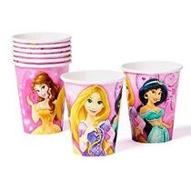 Partido Papel Disney Princess 9 Oz Copas Pack De 8 Suministr