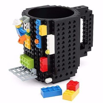 Taza Build-on Diseño Bloques Ladrillos Lego Armable