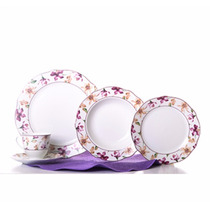 Vajilla Carmina De Porcelana 24 Pzas Crown Baccara